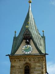 Glockenturm der Pfarrkirche St. Sebastian