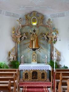 Kapelle zu den Hl. Wunden Niederhofen Hochaltar