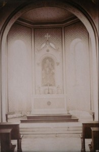 Altarraum der Friedhofskapelle 1911