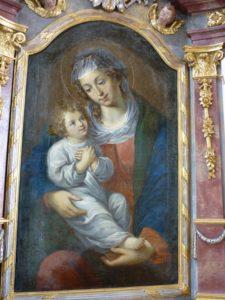 Madonna mit Kind in der Pfarrkirche Hausen