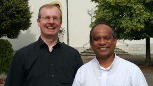 Pfarrer Manz und Pater Paul