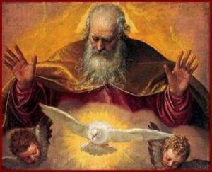 Gott Vater und Gott Heiliger Geist von Paolo Veronese (1528-1588)