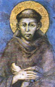 Heiliger Franziskus - Fresco von Cimabue